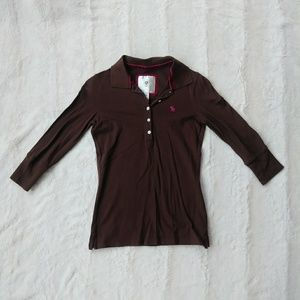 4 for $20 Brown 3/4 Sleeve Top